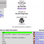 Nagios Service detail for WordPress