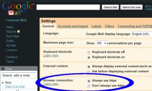 GMail - Always Use HTTPS