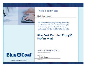 Blue Coat Certified ProxySG Professional