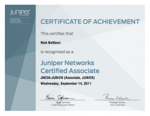 JNICA-JUNOS Certified