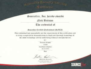 SFCP Certificate