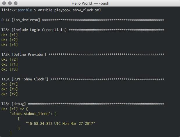 Ansible Cisco - Primer 1 - Hello World!   Nick Bettison