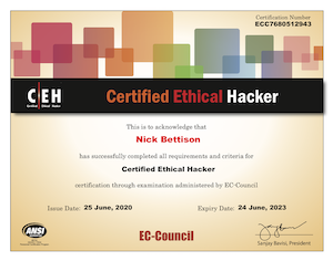 CEH: Certified Ethical Hacker